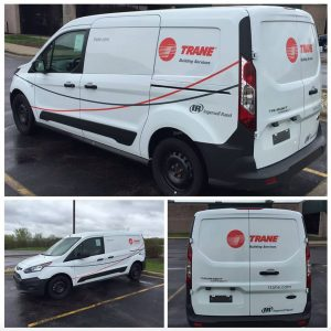 partial custom van wrap and graphics